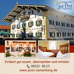 Hotel zur Post Samerberg Sommerbanner