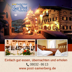 Hotel zur Post Samerberg Winterbanner